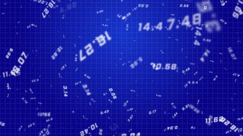 Flying Random Numbers Blue Seamless Looped Background Stock Video Footage