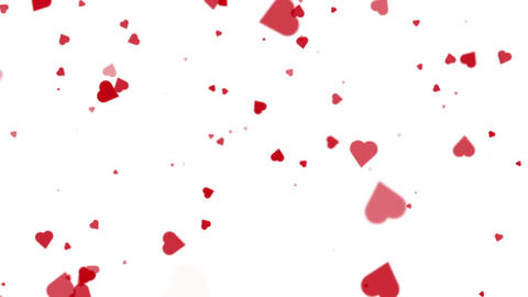 Flying Hearts Valentines Day Romantic Seamless Looped... Stock Video Footage