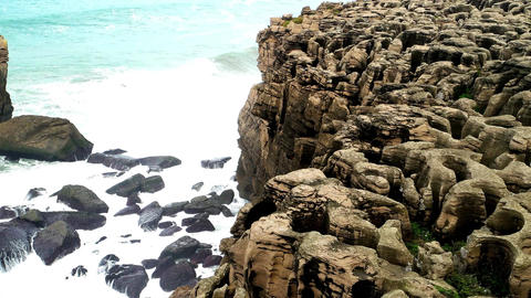 Sea and rocks in Peniche, Portugal Footage