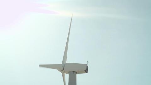 Wind turbine, tilt down Stock Video Footage