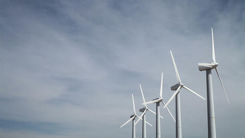 Wind turbines Stock Video Footage