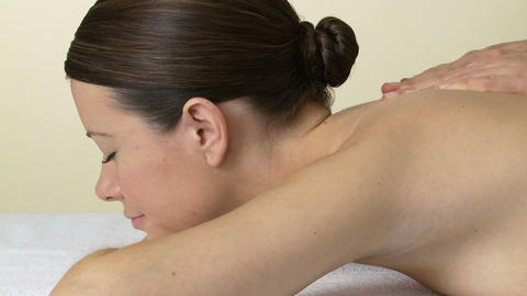 Woman having a massage Stock Video Footage