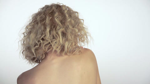 Sexy young woman moving around Stock Video Footage