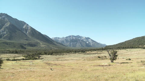 Rural landscape in argentina Stock Video Footage