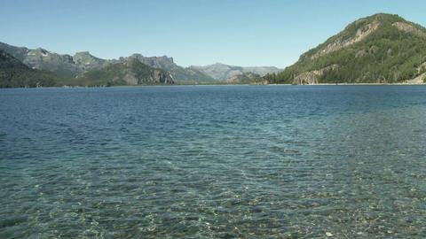 Lake in san carlos de bariloche area in argentina Stock Video Footage