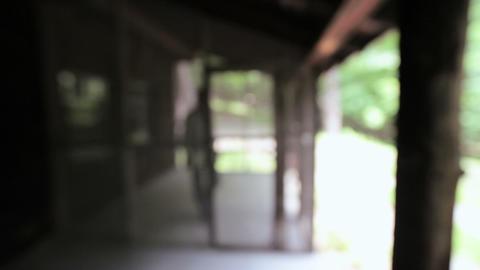 Senior man at rural retreat Stock Video Footage