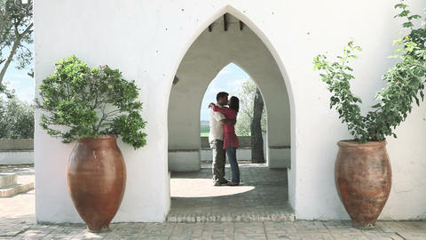Loving young couple on holiday Stock Video Footage