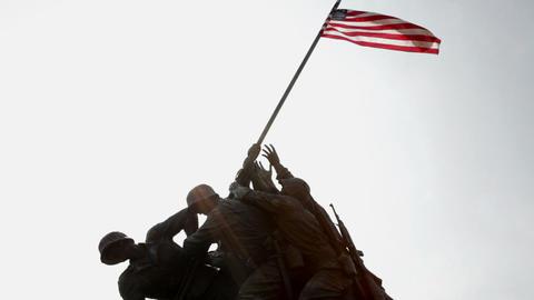 Marine corps war memorial, Arlington, Virginia, USA Stock Video Footage