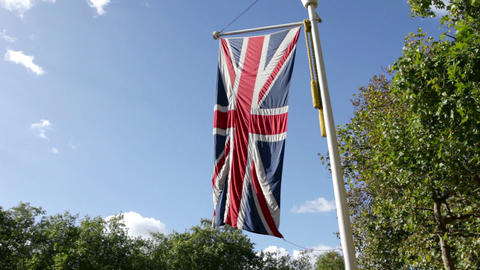 British flag, London Stock Video Footage
