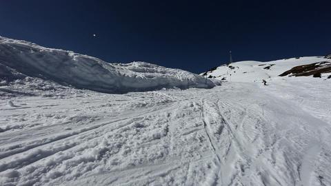 Man doing jump on snowboard in ski resort Stock Video Footage