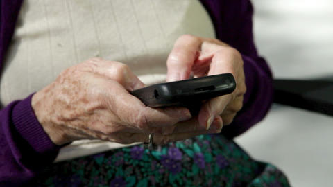 Senior woman using smart phone Stock Video Footage