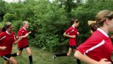 Girl soccer players running Footage