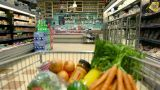Point of view shot of trolley being pushed around supermarket Footage