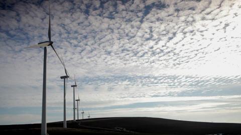 Wind farm, Tarifa, Spain Stock Video Footage