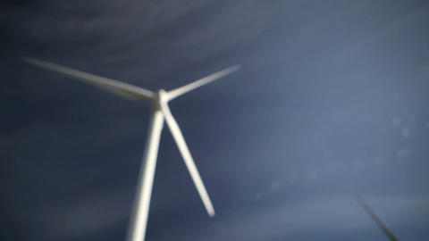 Wind farm, Tarifa, Spain Stock Video Footage