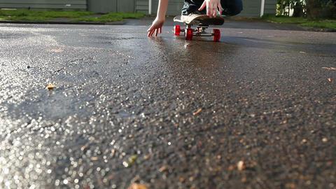 Boy skateboarding Stock Video Footage