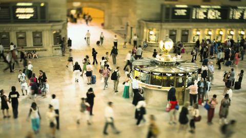 Commuters at Grand Central Station, New York City, New... Stock Video Footage