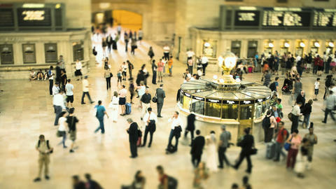 Commuters at Grand Central Station, New York City, New York, USA Footage