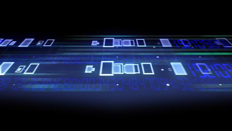 Data Stream ST5 F3 HD Stock Video Footage