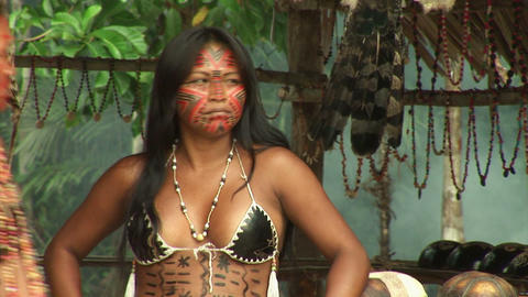 Brazil: people of Amazon river region 2 Stock Video Footage