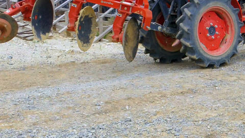 Tractor running through the construction site Footage