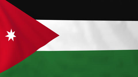 Flag of Jordan Animation