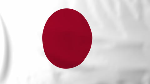 Flag of Japan Animation