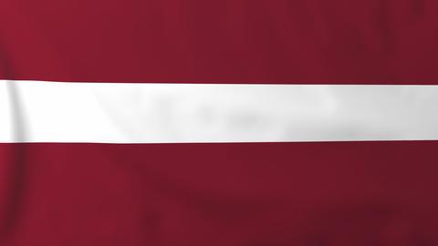 Flag of Latvia Animation