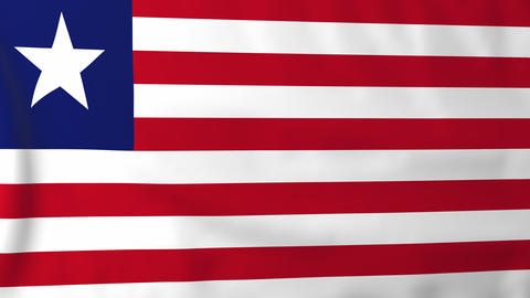 Flag of Liberia Animation