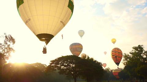 Chiang Mai, Thailand - November 2014- Hot Air Balloon, International Balloon Fes Footage