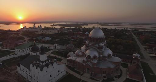 Island Sviyazhsk stock footage