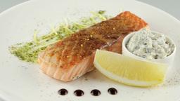 Grilled Salmon Restaurant Food