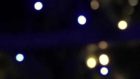HD 1080 video of bokeh on dark background christmas light background vintage Footage
