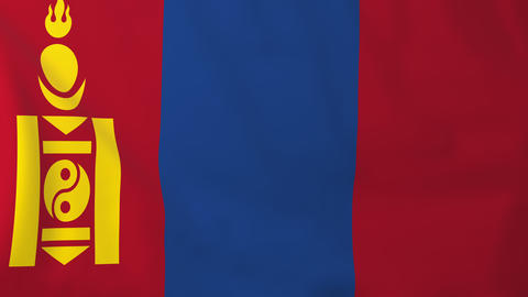 Flag of Mongolia Animation