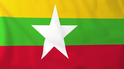 Flag of Myanmar Animation