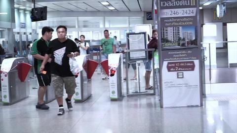 Bangkok, Thailand - 22 October 2014 -commuter at metro, underground train statio Footage