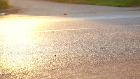 Marathon Runners In The Morning Sun, Healthy Exercise Concept stock footage
