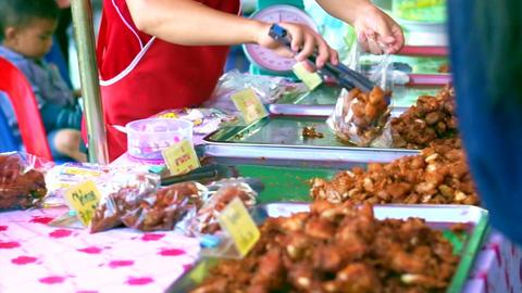selling fries street food in Asia Footage