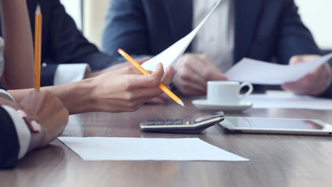 Close-up Of Business Person stock footage