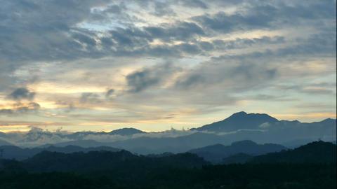 Timelapse Cloud On Mountain stock footage