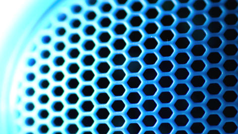 Macro Shot Of Car Interior Audio Speaker stock footage