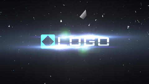 Slow Motion Design Light Flares Shatter Logo Reveal Intro After Effects Template