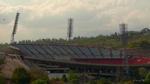 Large Sports Stadium stock footage