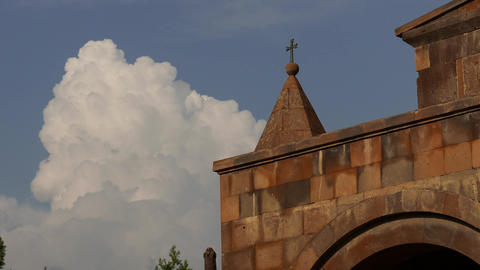 Middle Eastern Church with Timelapse Clouds Footage