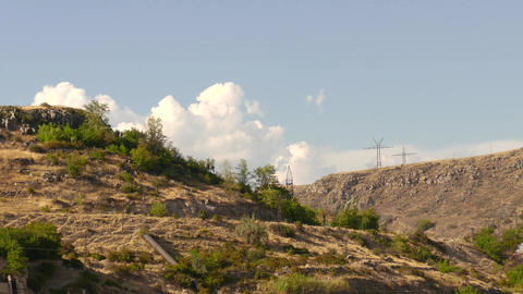 Timelapse Mountain Clouds stock footage
