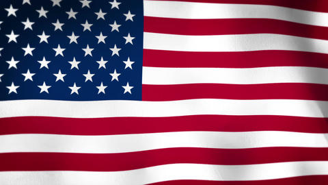 Flag of United States of America Vignette Animation