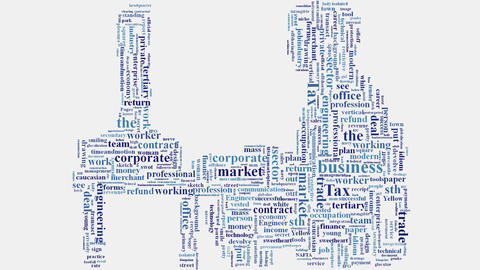 Business corporate marketing related words montage typography Animation