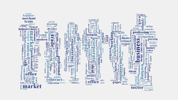 Business company commercial commerce intelligence word cloud Animation