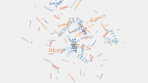 Shopping commerce beauty fashion word cloud text typography Stock Video Footage