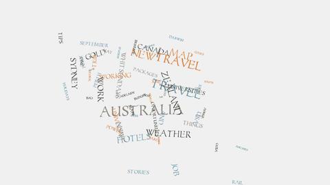 kangaroo Australia cities travel hotels and tourism word... Stock Video Footage